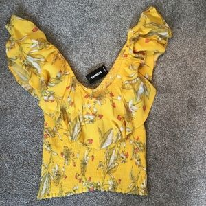 Floral Express crop top never worn with tags